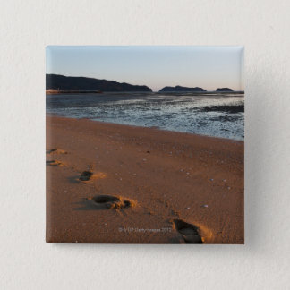 Steps in the sands at sunrise 15 cm square badge