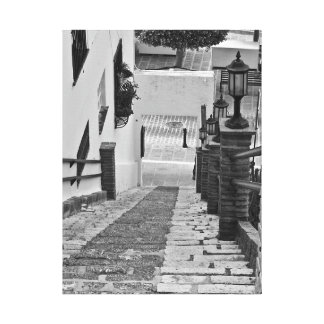 Steps in the streets Mijas Spain canvas
