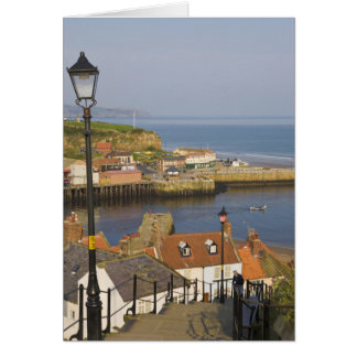 Steps leading down to the harbour, Whitby, North Greeting Card
