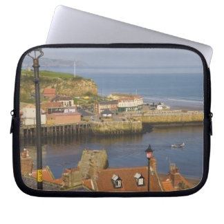 Steps leading down to the harbour, Whitby, North Laptop Sleeve