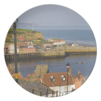 Steps leading down to the harbour, Whitby, North Plate