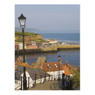 Steps leading down to the harbour, Whitby, North Postcard