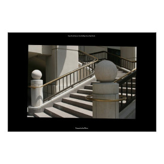 Steps, Nevada Supreme Court building, Carson City Poster