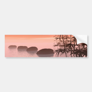 Steps to red sunset bumper sticker