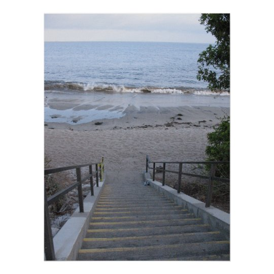 steps to the beach poster