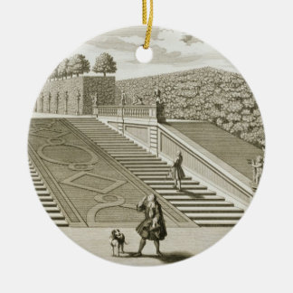 Steps to the garden terrace, Belvedere Palace, Vie Christmas Ornament