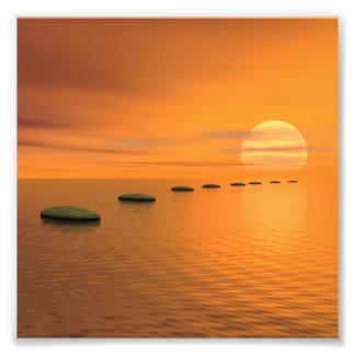 Steps to the sun photo print