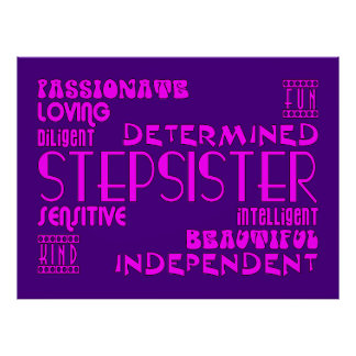 Stepsisters Birthday Parties Christmas Qualities Posters