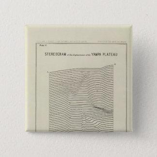 Stereogram Uinta Mountains 15 Cm Square Badge