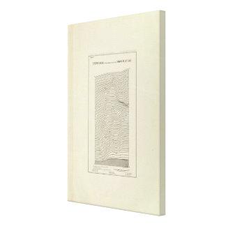 Stereogram Uinta Mountains Canvas Print