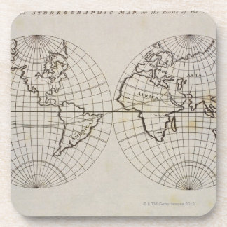 Stereographic Map Coaster