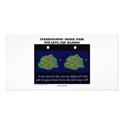 Stereoscopic Image Pair Viti Levu, Fiji Islands Personalized Photo Card