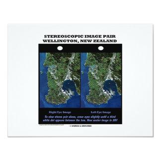 Stereoscopic Image Pair Wellington New Zealand 11 Cm X 14 Cm Invitation Card