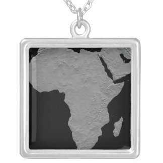 Stereoscopic view of North America Square Pendant Necklace