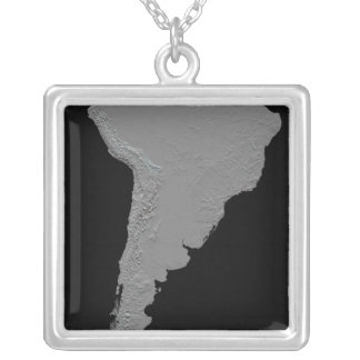 Stereoscopic view of South America Silver Plated Necklace