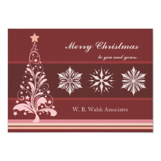 Sterling Christmas - Personalized Business Holiday 13 Cm X 18 Cm Invitation Card