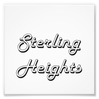 Sterling Heights Michigan Classic Retro Design Photo Print