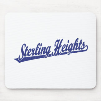 Sterling Heights script logo in blue distressed Mouse Pad