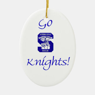 Sterling High Go Knights Logo II Oval Ornament