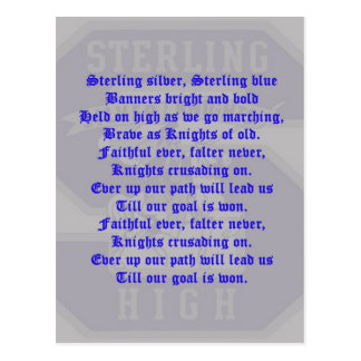 Sterling High School Alma Mater Postcard