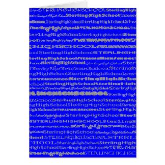 Sterling High School Text Design II V GreetingCard Greeting Card
