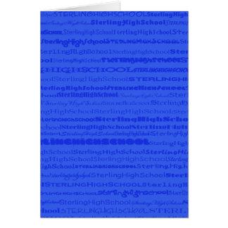 Sterling High School Text Design III GreetingCard Greeting Card