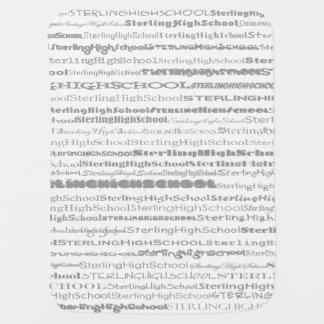 Sterling High School Text II Baby Blanket