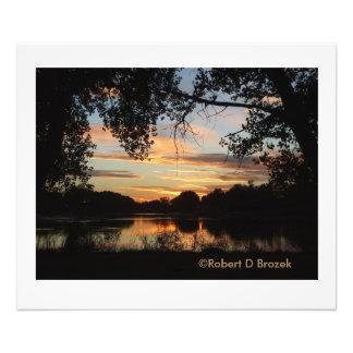Sterling Kansas Golden Sunset Photo Enlargement