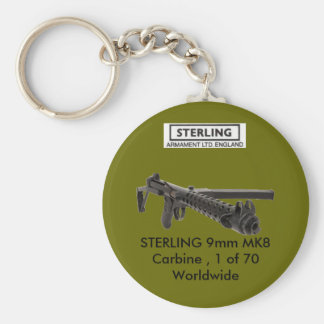 STERLING MK8 Carbine Basic Round Button Key Ring
