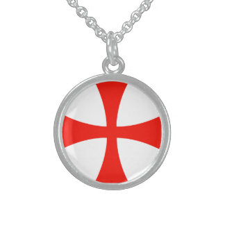Sterling necklace Knights Templar