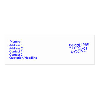 Sterling Rocks Profile Card Business Card