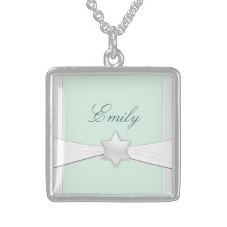 Sterling silver Bat Mitzvah keepsake Sterling Silver Necklace