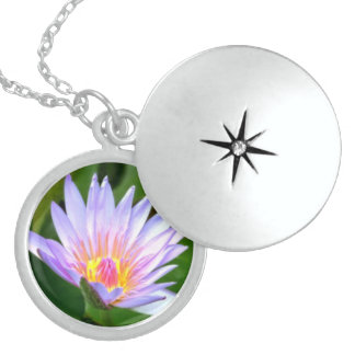 Sterling Silver Locket with a Lotus Picture