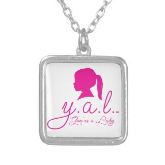 Sterling Silver Plate Y.A.L. Necklace