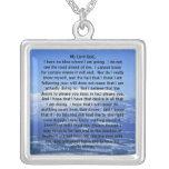 Sterling Silver Prayer of Thomas Merton Necklace