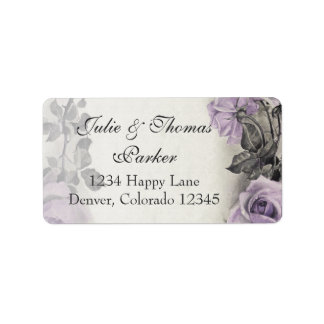 Sterling Silver Rose Wedding Address Labels