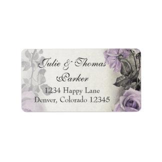 Sterling Silver Rose Wedding Address Labels