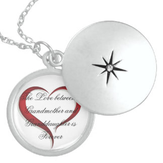 Sterling Silver Round Locket/Love Sterling Silver Necklace