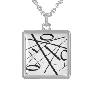 Sterling Silver Squar Necklace