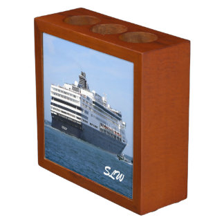 Stern and Starboard Cruising Away Monogrammed Desk Organiser