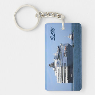 Stern and Starboard Cruising Away Monogrammed Key Ring