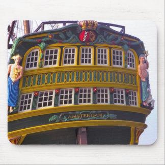 Stern of replica VOC Amsterdam Mouse Mat