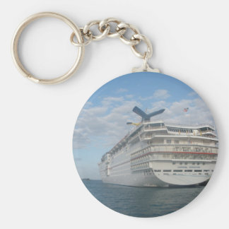 Stern of the Carnival Sensation Cruise Ship Basic Round Button Key Ring