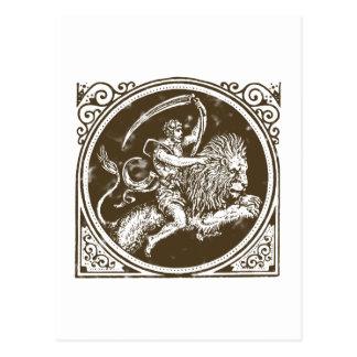 Sternzeichen Löwe zodiac leo lion Postkarte