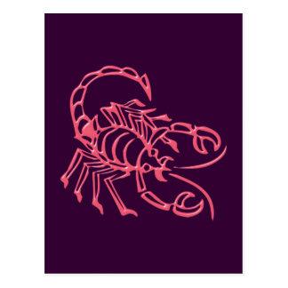 Sternzeichen Skorpion zodiac sign Scorpio Postkarten