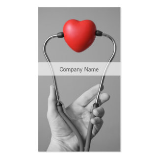 Stethoscope and Heart Business Card Template