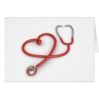 Stethoscope and Heart Card