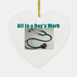 Stethoscope Medical Christmas Ornament