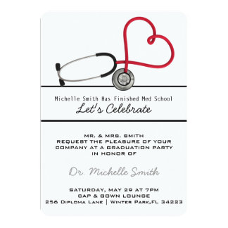 Stethoscope Medical Doctor Graduation Announcement