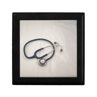Stethoscope Medical & Emergency  EMT's Small Square Gift Box